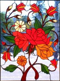 Витражи за прозорци Рози