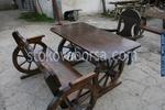 битова маса с една пейка и един стол по поръчка