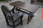 изработка на битова маса с 1 дървен стол