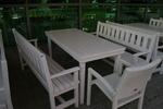 по поръчка битова маса с две пейки и 1 стол