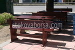 битови дървени маси с пейки от масив за заведения