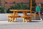 изработка на дървени пейки с маса