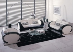 Комплект луксозни дивани и фотьойл в модернистичен стил