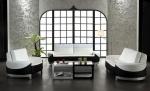 Комплект два дивана с канапе в черно и бяло по поръчка