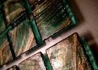 Стъклокерамика със златни нишки