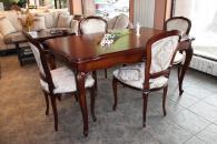 Масивна маса за трапезария със столове