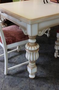 Дизайнерска маса със столове за трапезария