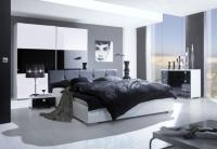 Обзавеждане на спалня в бяло и черно