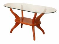 Холна маса със стъкло бронзе с фасет