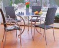 Комплект маса + 4 стола за градина