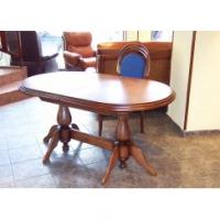 Класическа маса с 2 струговани крака 210/110см