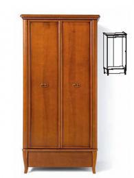 Двукрилен гардероб с размери 188,5/96/61,5см