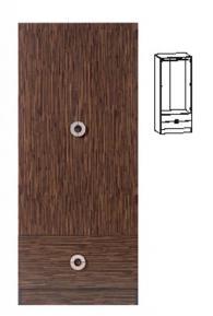 Модерен гардероб с размери 190,5/80/58см