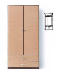 Двукрилен гардероб с две чекмеджета