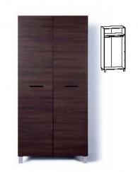 Двукрилен гардероб с размери 200/100/58,5см