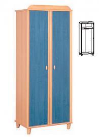 Двукрилен гардероб с размери 201,5/79/54,5см