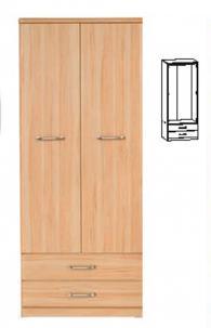 Стилен гардероб за спалня  201/80/57см