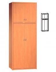 Двукрилен гардероб с размери 235,5/90/52см