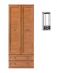 Двукрилен гардероб с размери 205,5/80/57см