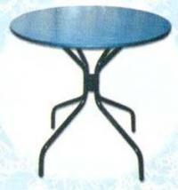 Синя кръгла маса с 4 крака
