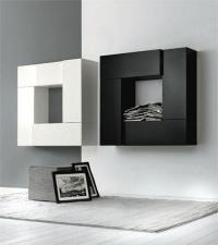 черно-бели шкафове за хол