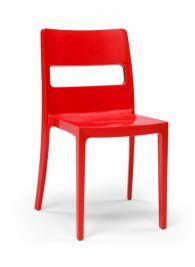 Дизайнерски стол червен