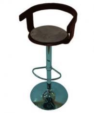 Бар стол с тапицерия плюш