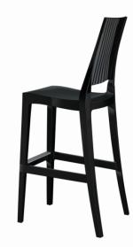 Дизайнерски бар стол в черно