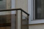 парапети за тераси от стъкло и неръждаема стомана