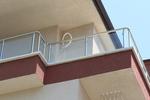 парапет за тераса от инокс и стъкло