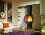 Италианска камина с осмоъгълен дизайн