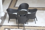 Столове от ратан за заведения в различни цветове и плетки