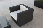 Красиви маси и столове от тъмен ратан