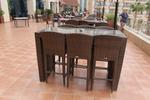 Удобни бар столове от ратан за заведения