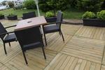Удобни маси и столове от ратан антрацит