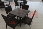Екзотични маси и столове от ратан антрацит