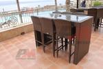 Бар столове, произведени от ратан за заведения