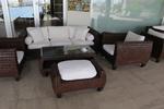Маси и столове от ратан за басейн в различни цветове и плетки