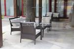 Евтини маси и столове от тъмен ратан
