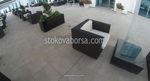 Удобни маси и столове от тъмен ратан