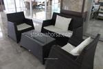 Маси и столове от тъмен ратан