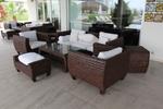 Екзотични маси и столове от тъмен ратан