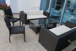 Лукс маси и столове от тъмен ратан