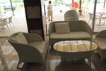 Екзотични маси и столове ратан за лятно заведение