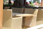 Екзотични маси и столове ратан за заведение