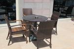 Издръжливи маси и столове ратан за басейн