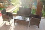 Мебели маси и столове от изкуствен ратан