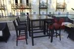 Уникални бар столове от ратан за заведения