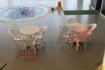 Пластмасова маса за басейн за бар