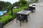 Качествен плот за маса за бар на плажа от верзалит